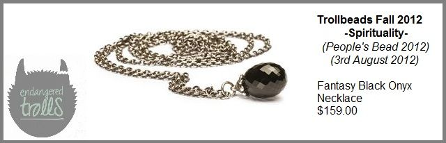 Trollbeads Fall2 012 Spirituality Collection - Fantasy Necklace with Onyx