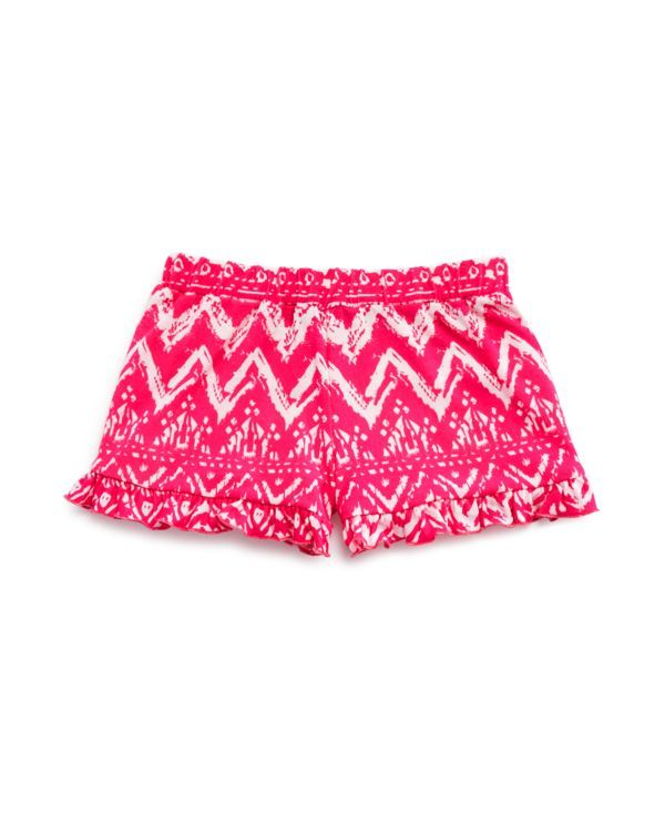 Bloomie's Girls' Ruffle Hem Printed Shorts - Sizes 2-6X