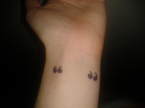punctuation tattoos