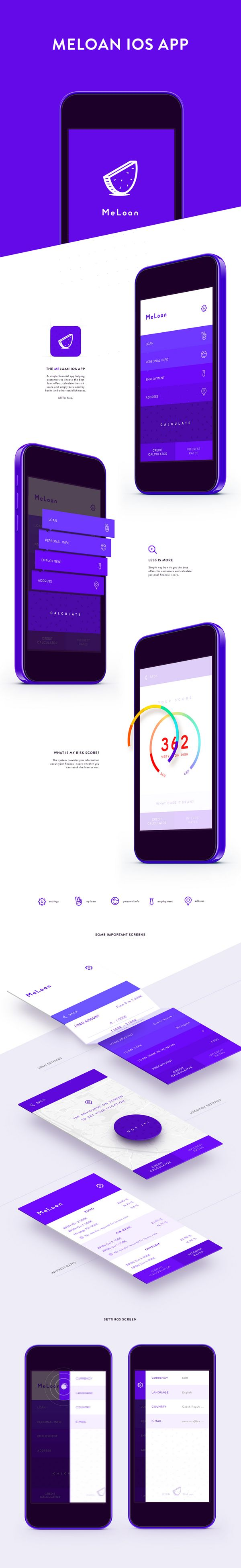 MeLoan Financial App for iOS.  Design and UX by CREATIVE KNIGHT.  http://www.creative-knight.com/  #creativeknight #creativenights #app #design #meloan