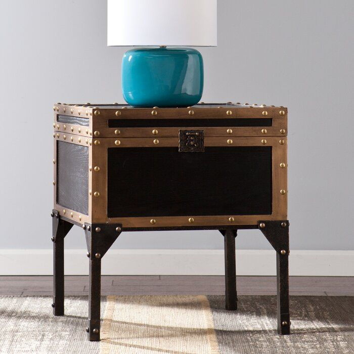 Hirst End Table With Storage Reviews Birch Lane Trunk End Table End Tables End Tables With Storage