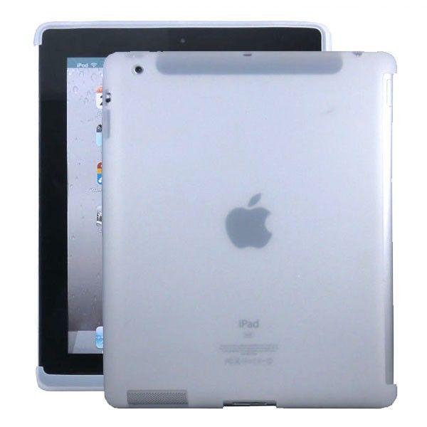 Soft Shell - Smart Cut (Hvit - Gjennomsiktig) iPad 3 Deksel