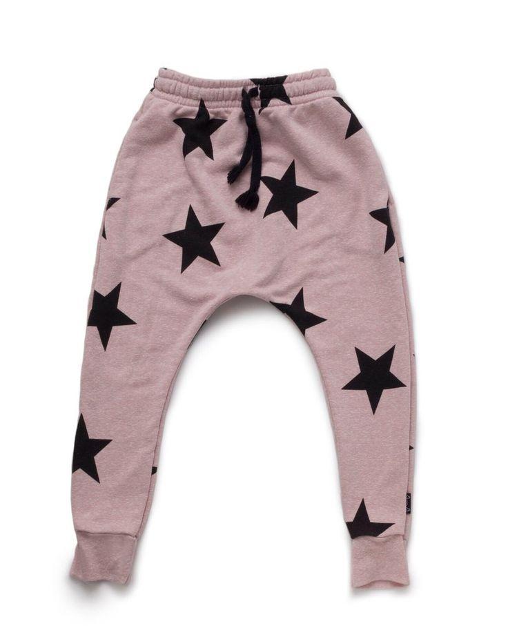 Nununu Star Baggy Pants | Powder Pink