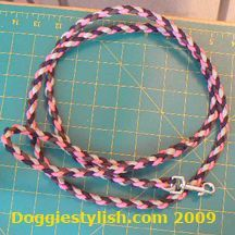 How To Make a Four Strand Round Braid Dog Leash From Paracord style