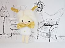 Małgorzata Kołaczyńska-Strzelecka, Zabawkarstwo,  http://polandhandmade.pl #polandhandmade, #pocketdoll, #doll, #rabbit