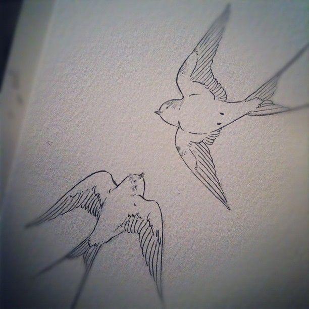 .@devonannasmith   Swallow tattoo commission