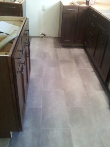 12 in. x 24 in. Coastal Grey Vinyl Tile Flooring (30-Case)-24716 at The Home Depot
