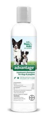 DOG FLEA SHAMPOOS - ADVANTAGE FLEA & TICK DOG SHAMPOO - 8 OZ - BAYER HEALTHCARE LLC - ANIMAL - UPC: 724089792143 - DEPT: DOG PRODUCTS