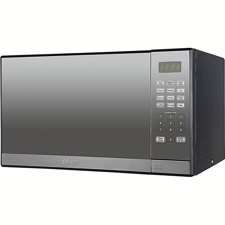 Microwave Oven 1.3 cu ft With Grill And Mirror Finish Silver 1000 Watts New #DealsToaday