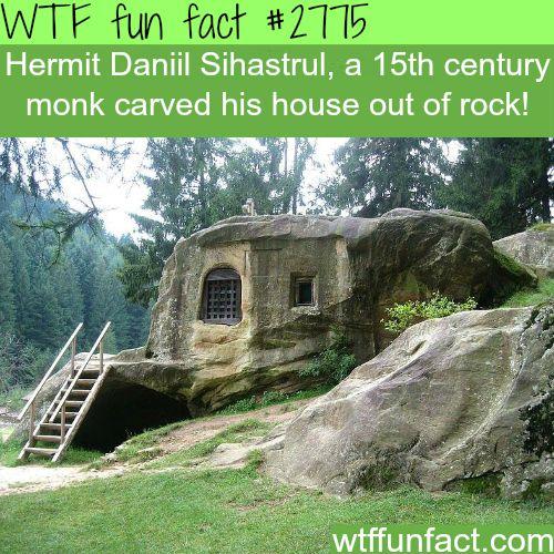 Hermit Daniil Sihastrul Stone House - WTF fun facts