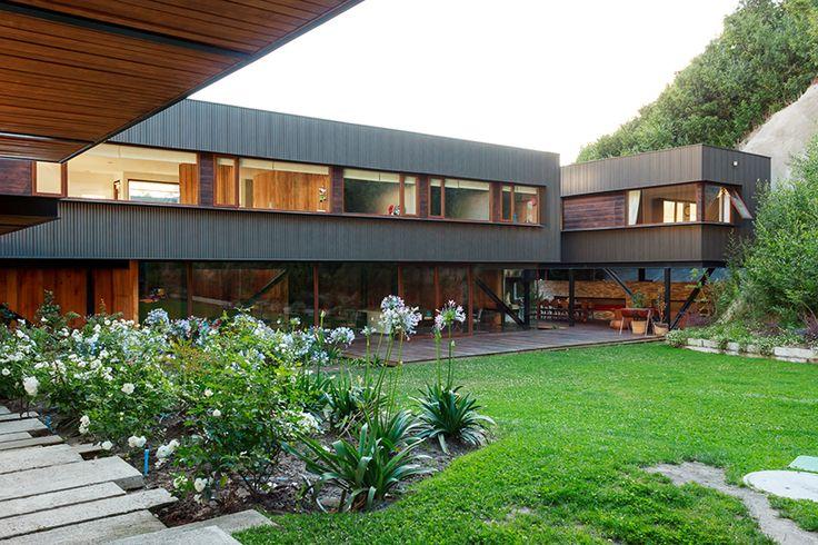 Arquitetura da Casa Sweet, no Chile, com revestimento Quadroline.