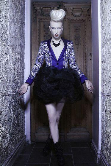 Get this look: http://lb.nu/look/3572795  More looks by Myles Sexton: http://lb.nu/user/627569-Myles-S  Items in this look:  Zara Blazer, Custom Tu Tu, Zigi Platform Heels