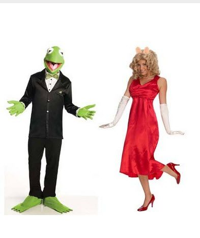 The Muppets Couples Costume Miss Piggy & Kermit Adult Standard  | Shop Halloween Costumes | Costumes at great prices | couples | zombie infested world | http://www.zombieinfestedworld.com/halloween-costumes-for-couples.html #halloween #costumes