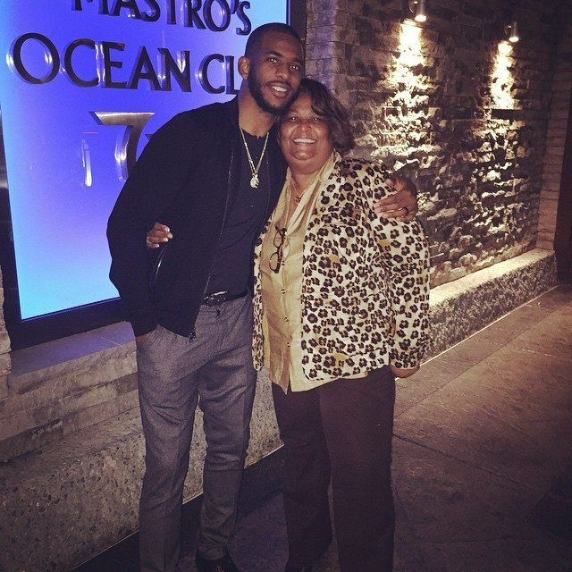 CP3 & his Mom.  What a great son!  Here's what he said on his Facebook post:  Happy Birthday Mama!!! Words can't express the love and support that you've showed Me, Cj & Daddy@ You've showed us what it's like to be an amazign God fearing woman, wife, mother & now the most LENIENT Nana that the world has every known.