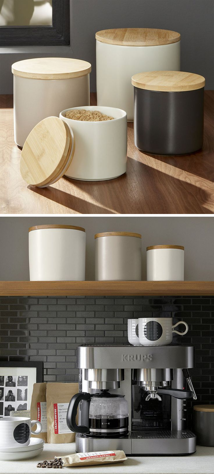 keep your food and decor fresh with these  modern jars and canisters -