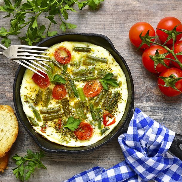 Omelette aux haricots verts