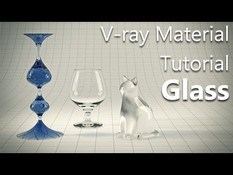 Vray Glass material tutorial in 3ds max - YouTube