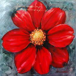 peintures fleur rouge fleurs rouges en peintures sur toile tableau pinterest toile et rouge. Black Bedroom Furniture Sets. Home Design Ideas