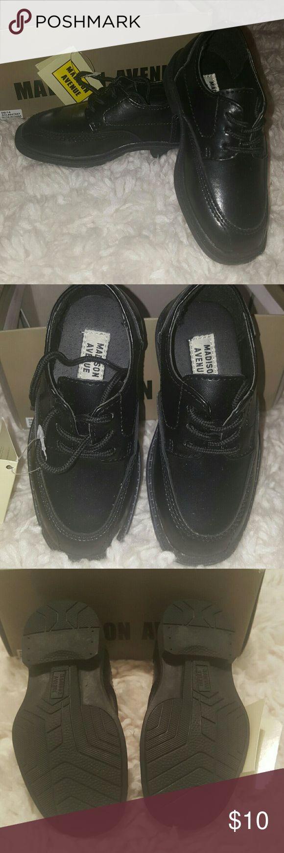 Toddler dress shoes BNIB Black toddler dress shoes. Brand new. Madison Avenue Shoes Dress Shoes