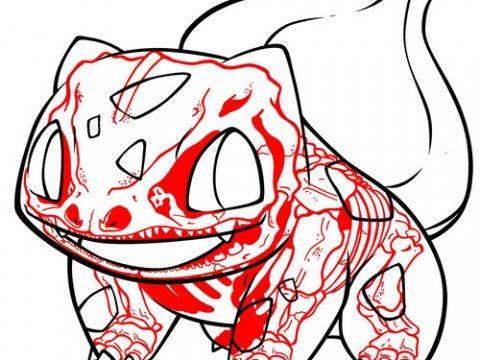 001 Balbusaur Pokemon Xray