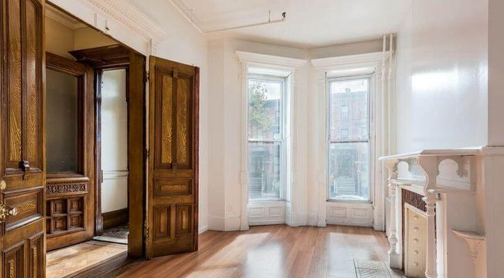 This four-story brownstone at 125 Halsey Street in Bed Stuy