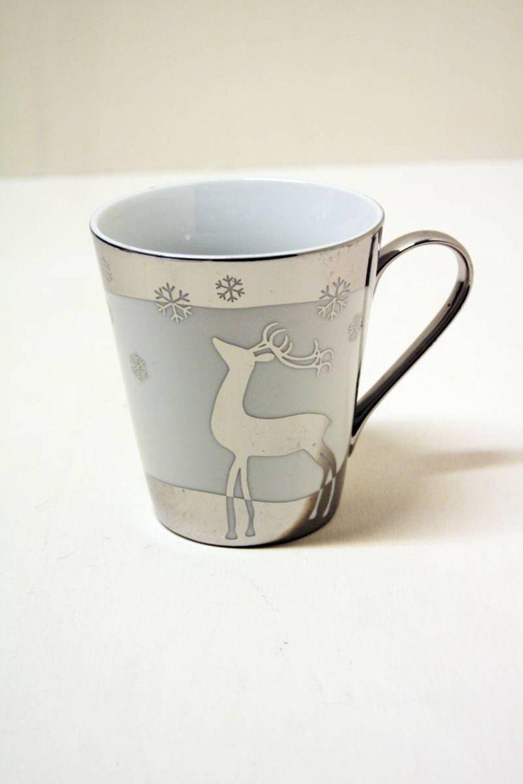 Tazza mug in ceramica da the e caffè, colore bianco con disegni argento su tutta la superficie. Da collezionare... Il miglior modo di iniziare la giornata!www.kairos-shop.com