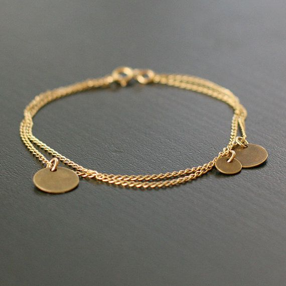 bellissima | gold and brass coin bracelet by by elephantine on Etsy