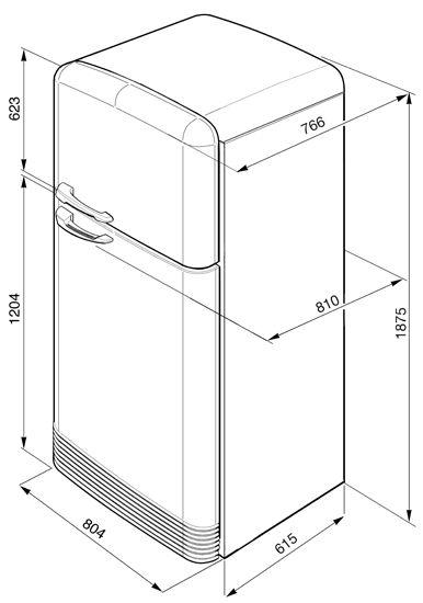 Refrigerators FAB50B - Smeg | Smeg UK
