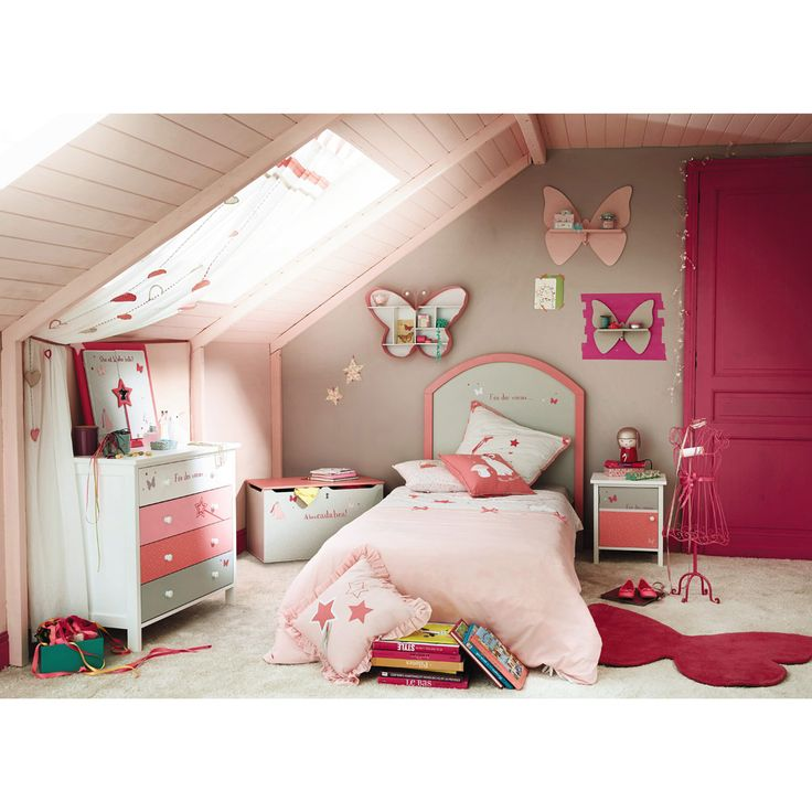maison du monde chevet enfant gris et rose stella d co. Black Bedroom Furniture Sets. Home Design Ideas