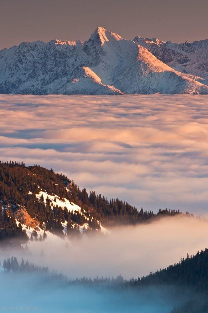 Krivan peak (2494m) - Day substituting night . . by Matej Rumansky