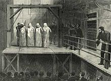 Haymarket affair - Execution of defendants—Engel, Fischer, Parsons, and Spies.