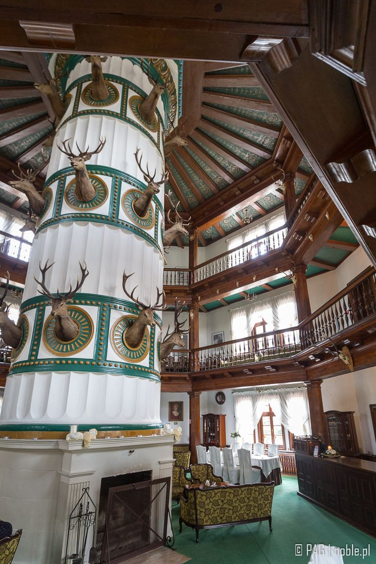 Interiors of the two hundred years hunting palace in Antonin, Greater Poland
