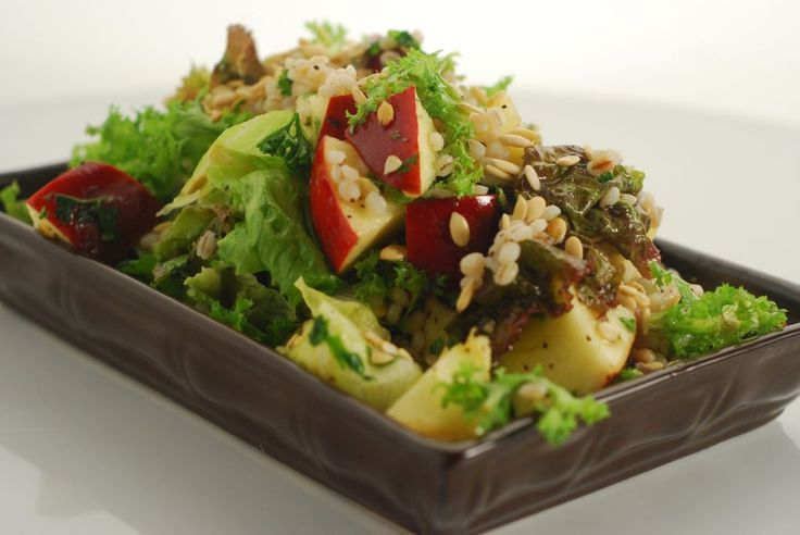 Celebrity chef Sanjeev Kapoor shares his special Apple Barley Pumpkin Seeds Salad Recipe. Healthy, vegetarian, full of delish goodness