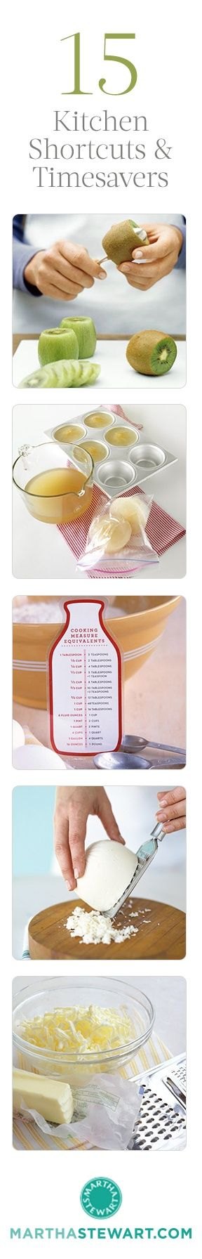 15 Kitchen Shortcuts and Timesavers // BRILLIANT!
