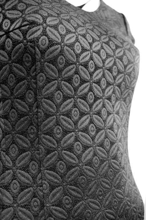 the zoom of cocktail black dress pattern, looks great