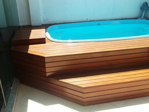 1000 ideas about piscina pequena com deck on pinterest - Piscina prefabricada pequena ...