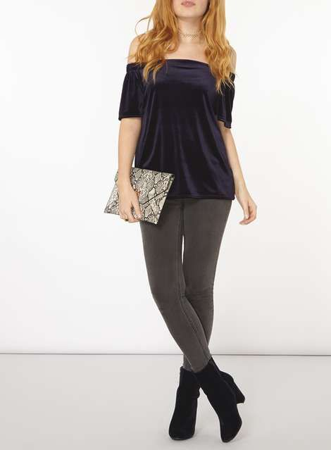 http://us.dorothyperkins.com/en/dpus/product/clothing-788621/evening-partywear-4923500/navy-velvet-bardot-top-6021798?bi=40