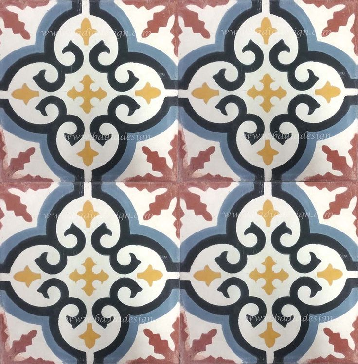 Badia Design Inc Store - Hand painted Cement Tiles - CT053, $0.00 (http://www.badiadesign.com/moroccan-hand-painted-cement-tiles-ct053/)