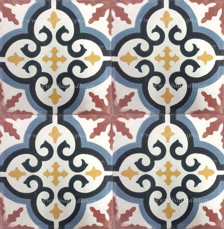 Badia Design Inc Store - Hand painted Cement Tiles - CT053, $0.00 (http://www.badiadesign.com/moroccan-hand-painted-cement-tiles-ct053/)