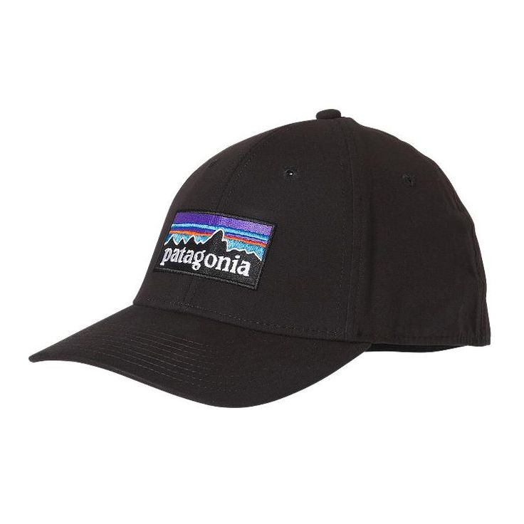 Patagonia P-6 Logo Stretch Fit Hat - Black BLK
