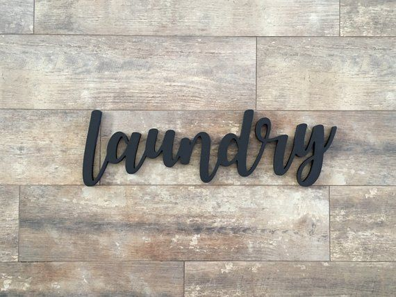 Laundry Cutout Sign Laundry Wood Word Cutout Laundry Cutout