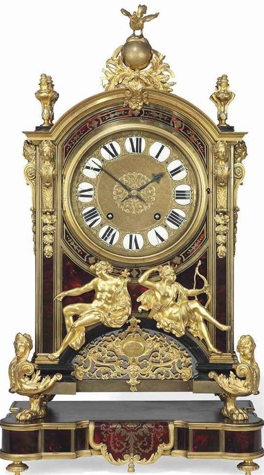 A REGENCE ORMOLU-MOUNTED TORTOISESHELL 'BOULLE' STRIKING RELIGIEUSE CLOCK GAUDRON, PARIS, CIRCA 1720