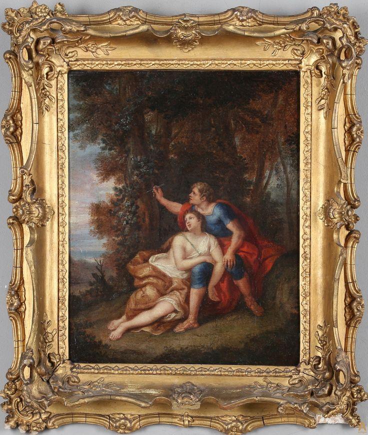 "Картина ""Марс и Венера"".Фламандская школа. 1700 гг."