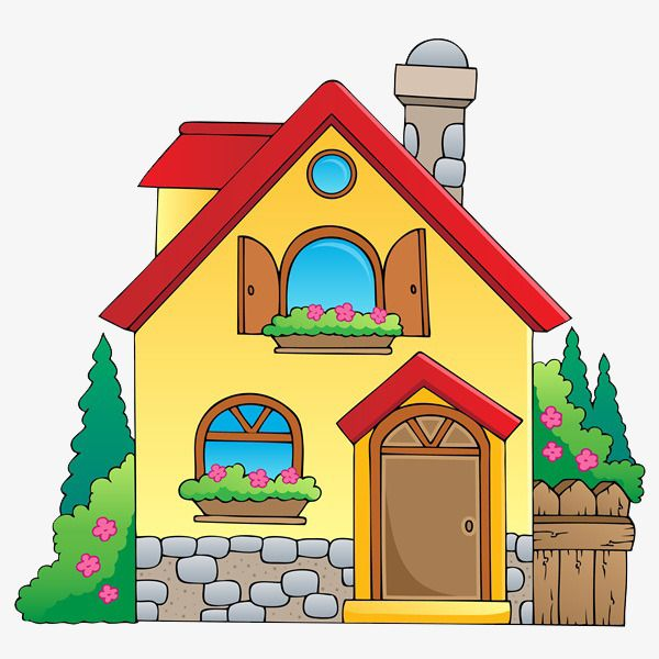 Beautiful House Cartoon Jane Pen Hand Png Transparent Clipart Image And Psd File For Free Download House Drawing For Kids Art Drawings For Kids Cartoon House