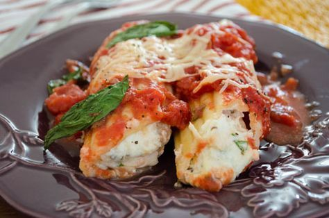 Parmesan Chicken Manicotti | Inspired Dreamer