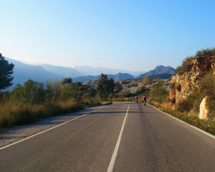 Cycling in the beautiful Alpujarras in Andalucia, Spain.