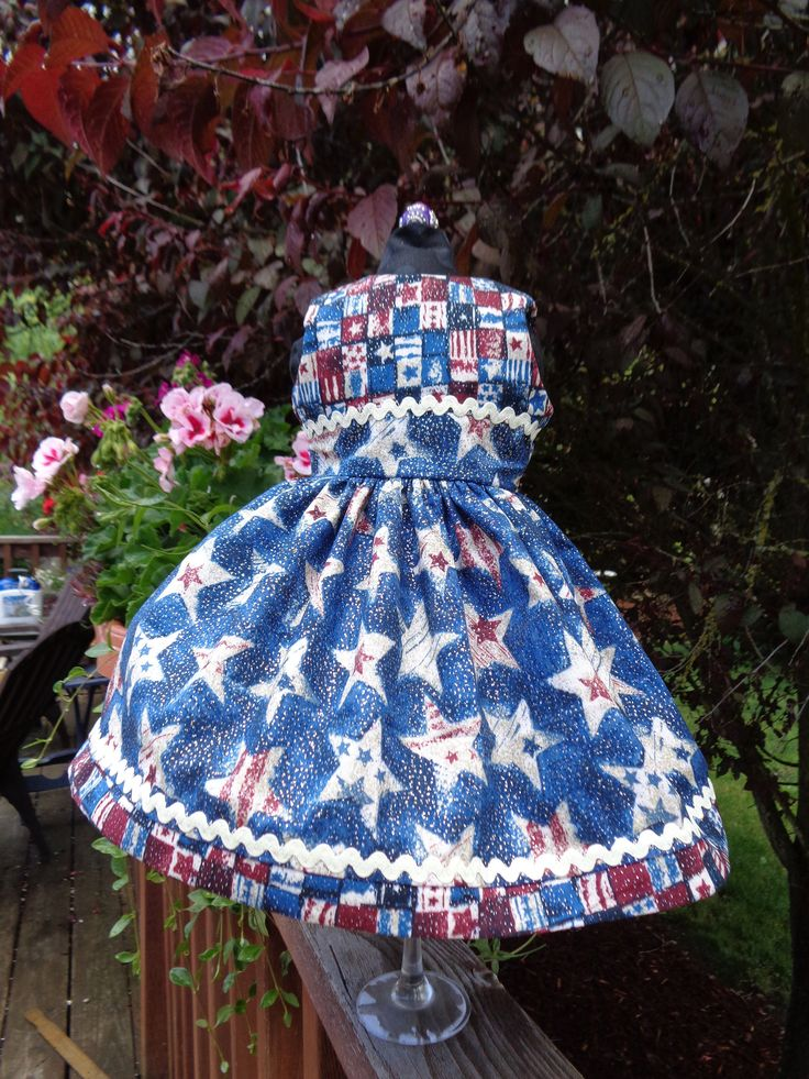 Independence Day Dress handmade for 18″ Dolls. Made in USA fits American Girl, Our Generation Dolls