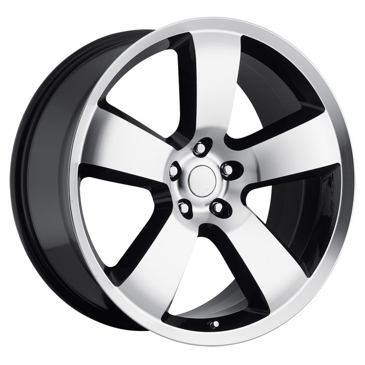 Dodge Charger 2006-2010 22x9 5x115  18 - SRT8 Replica Wheel - Black Machine Face With Cap