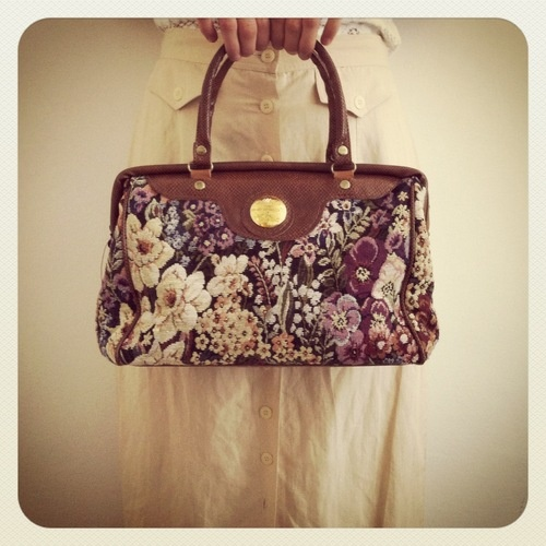 #Vintage Flowered #bag