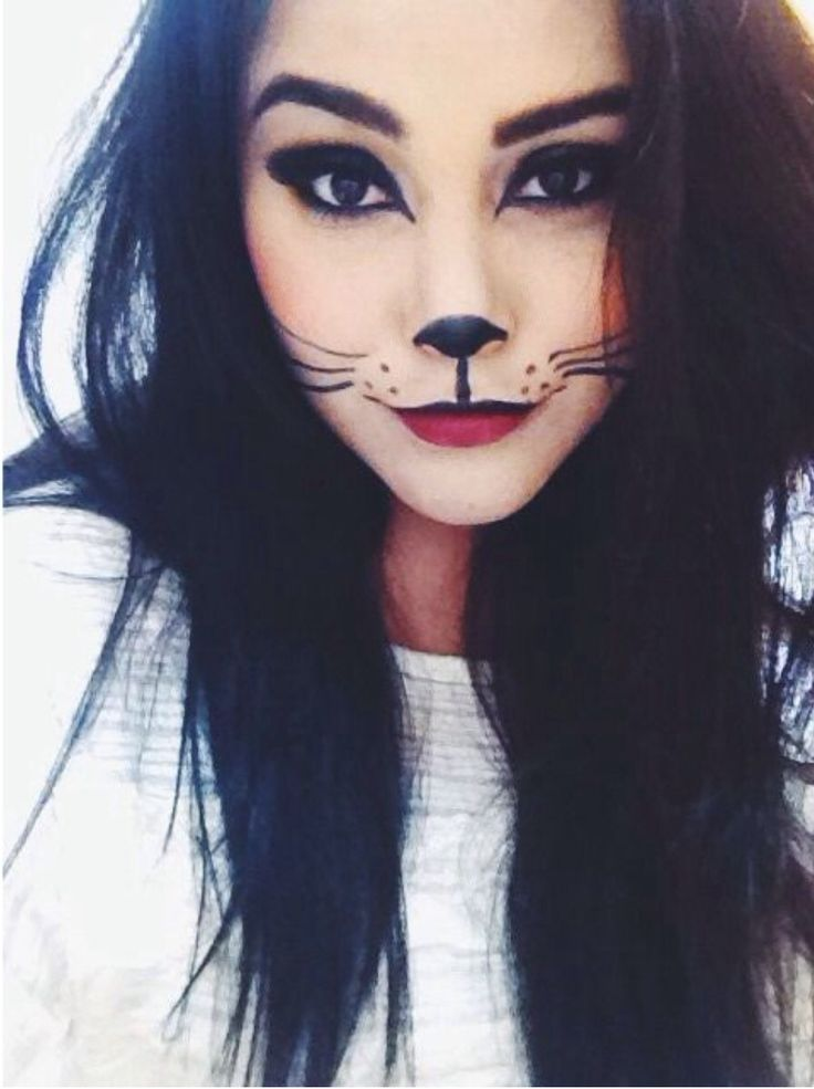 Cute cat make up for Halloween text KATC56 followed by £5 £10 or more to 70070 or go to https://www.justgiving.com/katscure/ to help raise money to save a young mums life.